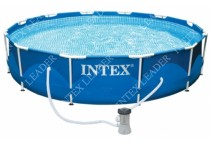 28382 Бассейн каркасный INTEX Sequoia Spirit Wood Frame Pool 478x124см