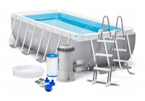 26788Бассейн каркасный Intex Rectangular Prism Frame Pool — 26788.26776 400х200х100 см Бассейн каркасный Intex Rectangular Prism Frame Pool 400х200х100 см