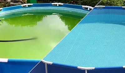 Осветление воды в бассейне